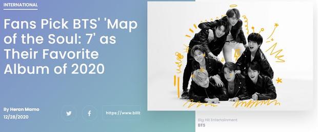 Фото №2 - Выбор фанатов: альбом BTS— лучший в 2020 году