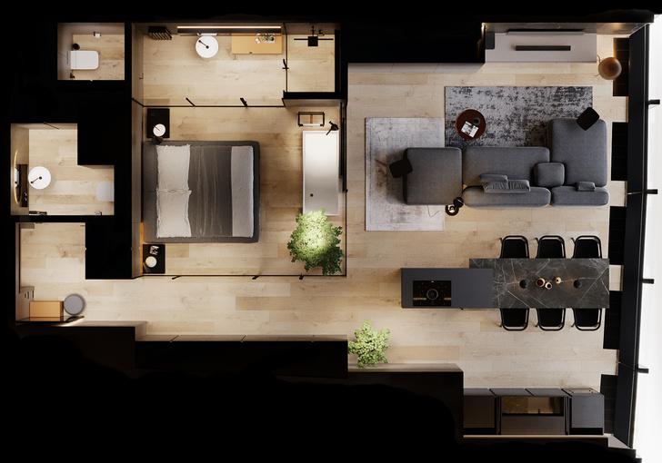 Фото №14 - Апартаменты в аренду со стеклянной спальней