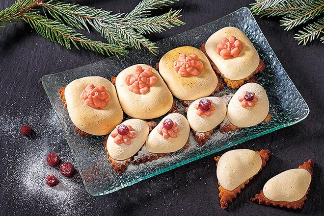 Ореховое печенье с безе