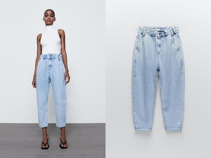 Фото №4 - Голубые джинсы— самая главная покупка лета. Рассказываем, на какие модели обратить внимание