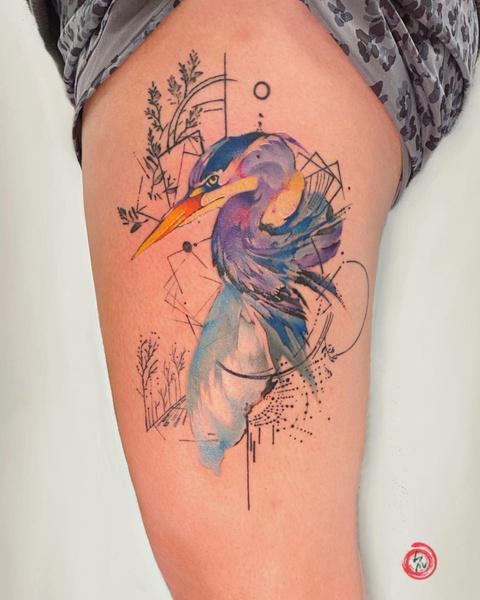Фото №4 - Первая татуировка: самые красивые эскизы в стиле акварели