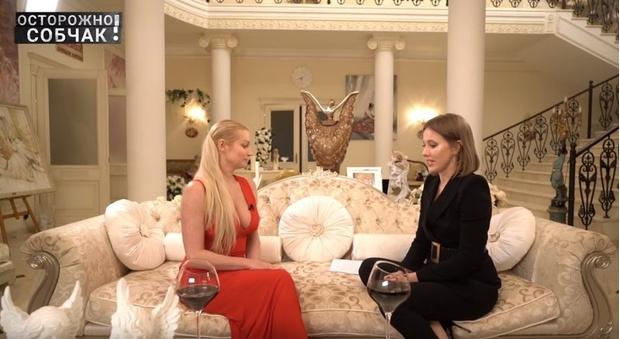Анастасия Волочкова, Ксения Собчак
