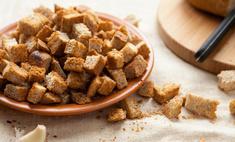 Хлебные сухари к салатам и супу: рецепт