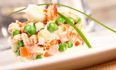 Готовим овощной салат с морепродуктами