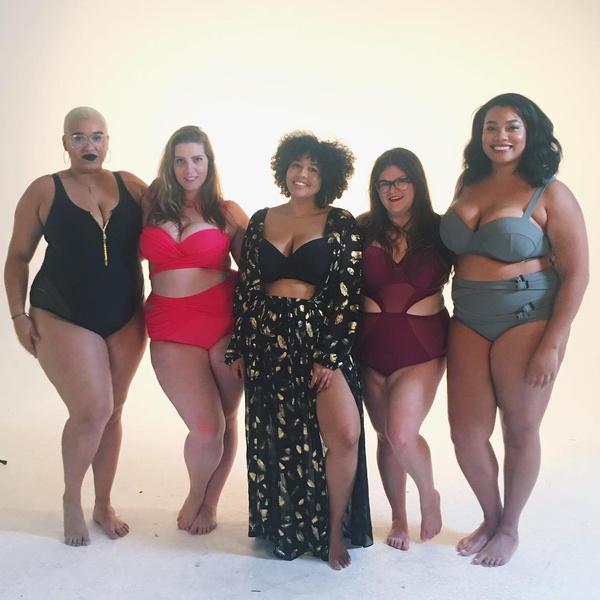 Фото №1 - Модель plus-size придумала красивые бикини для толстушек