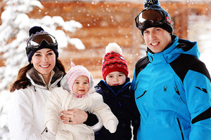 Принц Уильям, Кейт Миддлтон, принц Джордж, Шарлотта