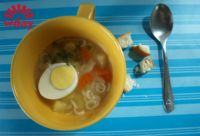Суп с «ноликами» фото
