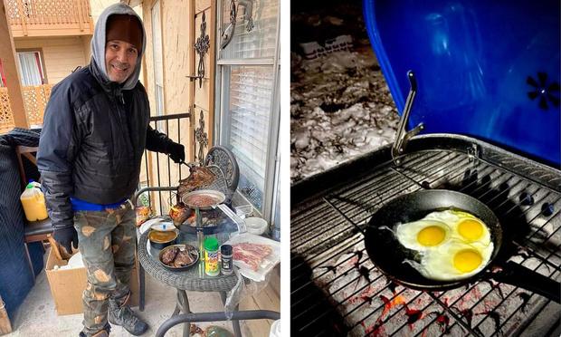 Фото №1 - Жители Техаса выкладывают в «Твиттер» фото, как они справляются с отсутствием в домах воды, света и тепла