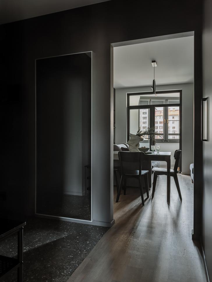 Фото №6 - Квартира 55 м² в темных тонах для молодой семьи в Подмосковье