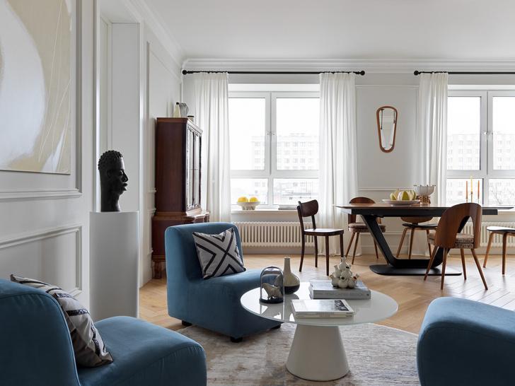 Фото №2 - Современная квартира с винтажной мебелью