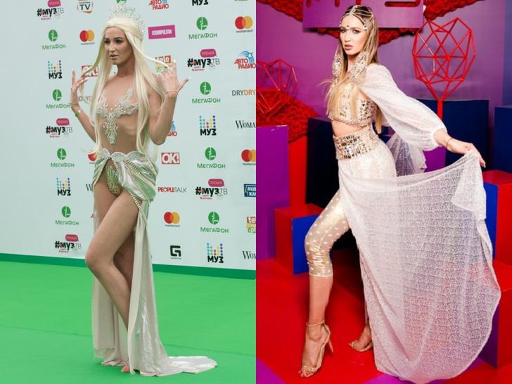 Фото №2 - Незабываемые образы звезд на «Премии МУЗ-ТВ»: модные взлеты и падения