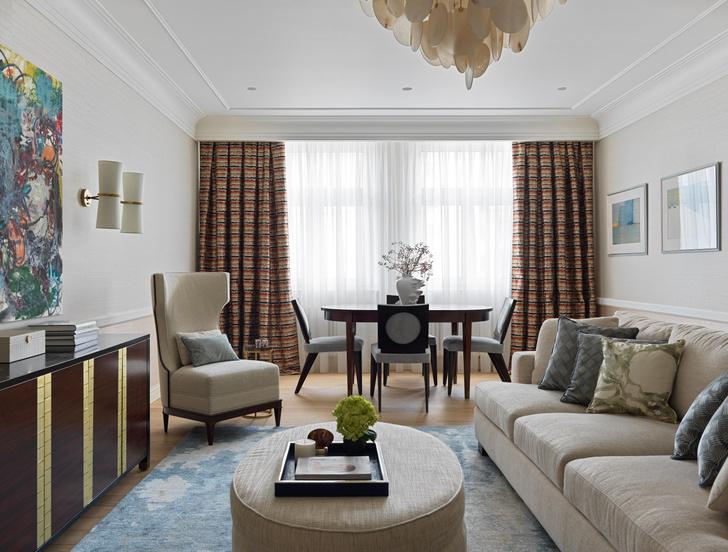 Фото №1 - Американская классика для квартиры в Москве 155 м²