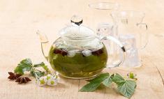 Напиток с земляникой и листом смородины