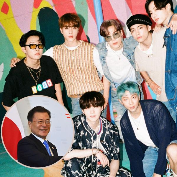 Фото №1 - Президент Южной Кореи стал восьмым мембером BTS
