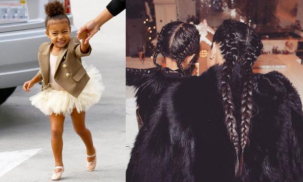 Кардашьян нарастила двухлетней дочери волосы