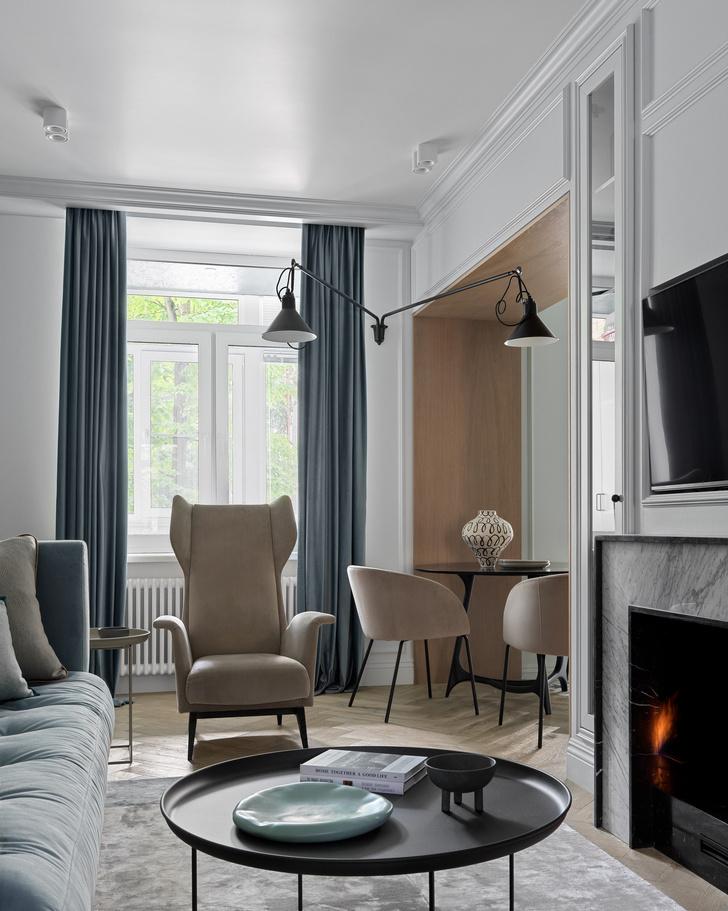 Фото №4 - Современный дизайн квартиры 100 м² в московской сталинке