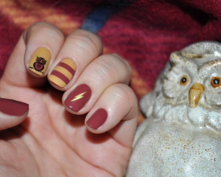 Фото №4 - Маникюр для фанатов «Гарри Поттера»: 10 волшебных идей 💅