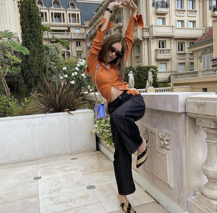 Фото №1 - Оранжевый + лавандовый— главное сочетание лета. Доказывает дочь Джуда Лоу