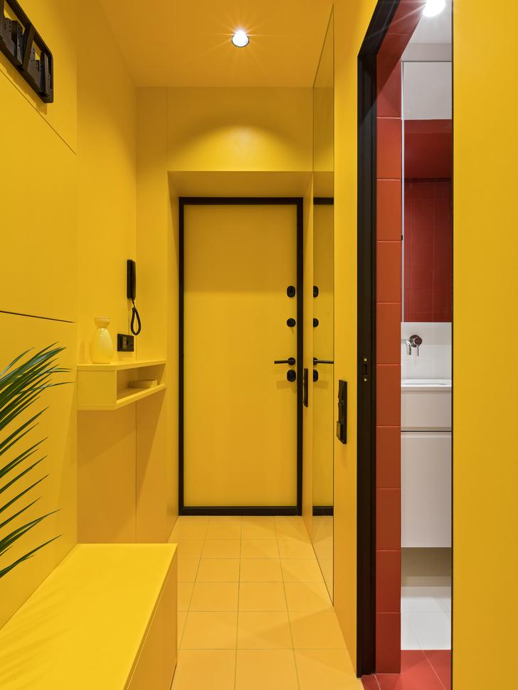 Фото №8 - Цветная студия 25 м² с кроватью на подиуме