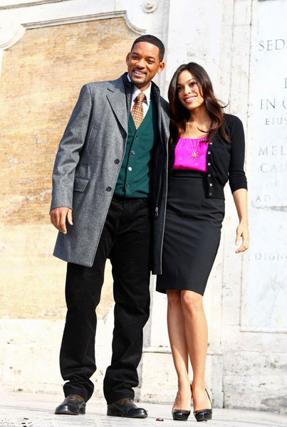 Фото №1 - Уилл Смит и Розарио Доусон в Риме