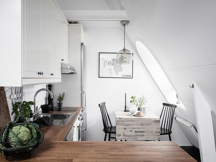 Фото №6 - Маленькая, но уютная мансарда в Швеции