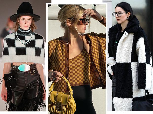 Фото №1 - Модная партия: как носить шахматный принт