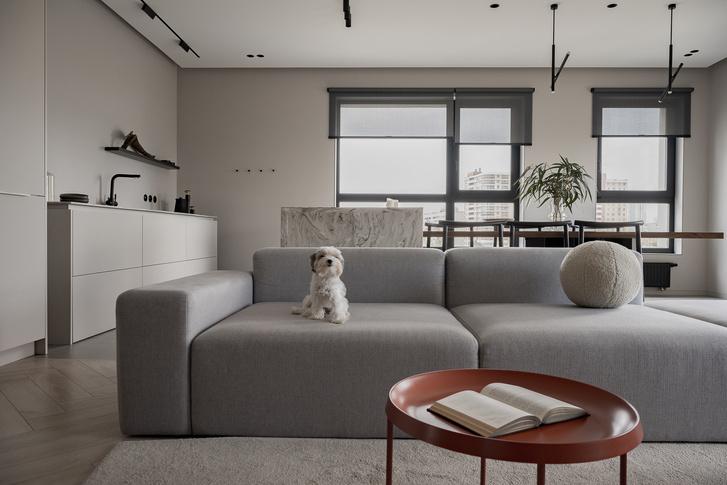 Фото №1 - Минималистская квартира в доме с радиусной планировкой