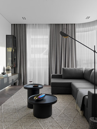 Фото №6 - Монохромная квартира 59 м² для целеустремленной женщины