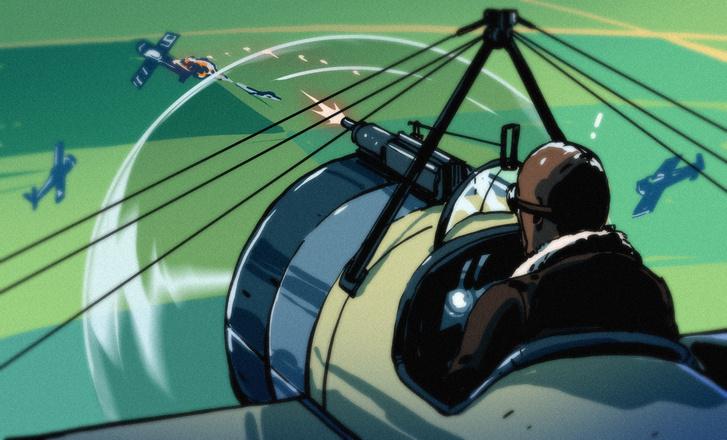 Фото №1 - Почему самолеты стреляют прямо через пропеллер и не падают