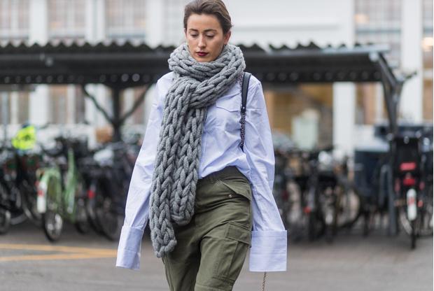 Фото №1 - Как носить объемный шарф и не утонуть в нем: 6 модных приемов