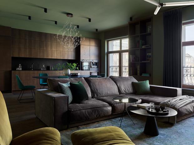 Фото №1 - Квартира 140 м² на Плющихе по проекту Tatiana Alenina design bureau