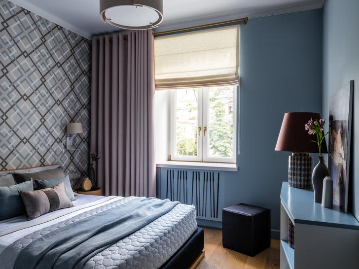 Фото №8 - Московская квартира 90 м² в серо-голубых тонах