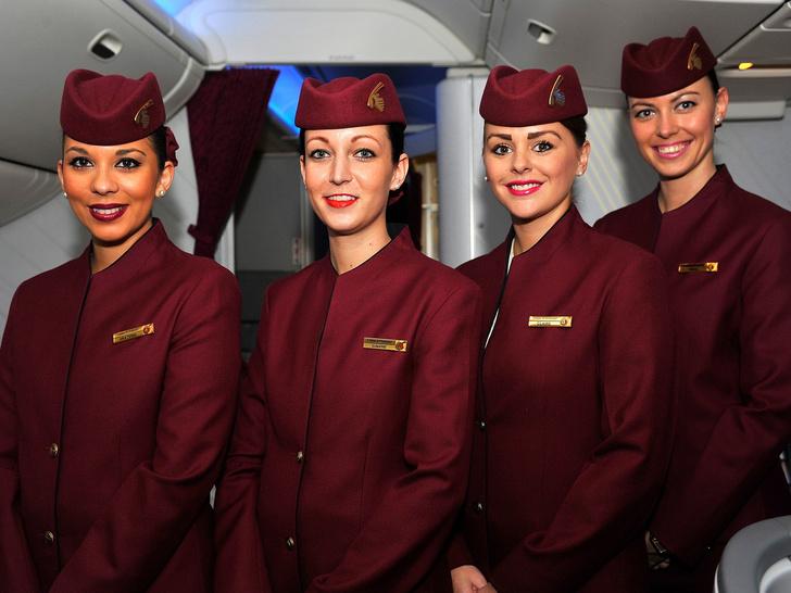 Фото №9 - Небо, самолет, девушка: самые красивые униформы стюардесс в мире