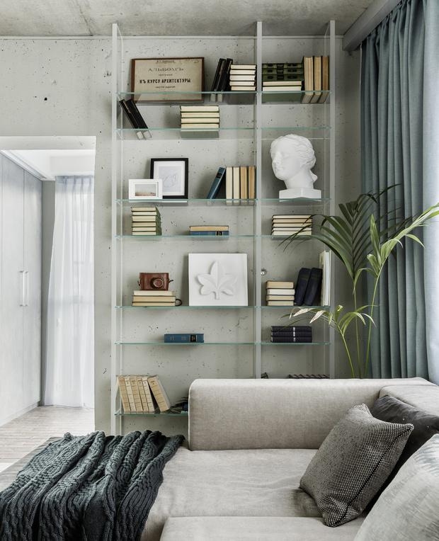 Фото №1 - Стеллаж в гостиной: лучшие идеи и решения