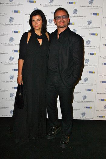 Боно (U2) с женой Элисон