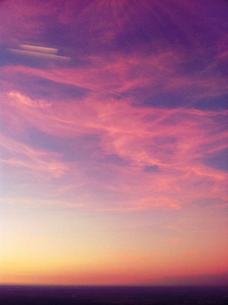 Розовый закат фото