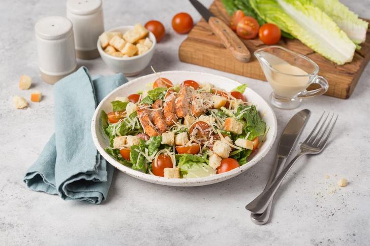 салат «Цезарь» с курицей рецепт