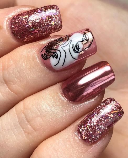 Фото №34 - Розовое золото: 39 стильных и модных идей нарядного маникюра