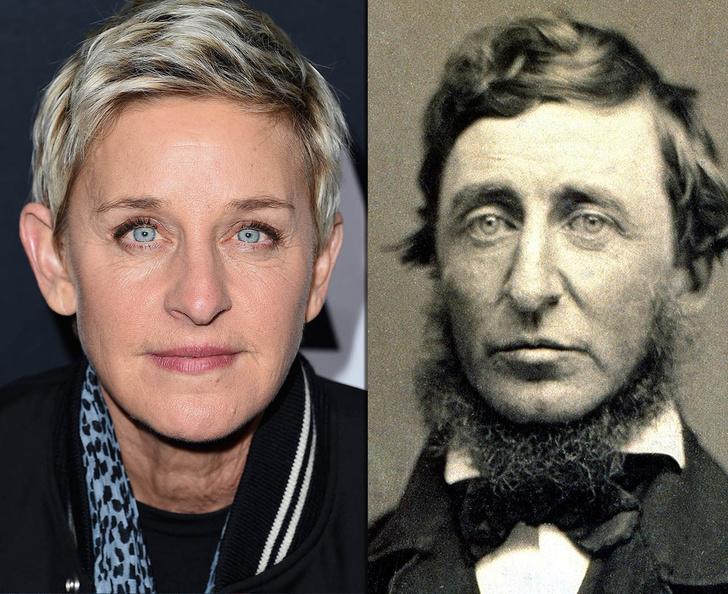 Фото №1 - Взрыв из прошлого: знаменитости, невероятно похожие на исторических личностей