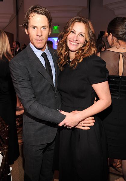 Джулия Роберт с мужем Дэнни Модером, январь 2014 года