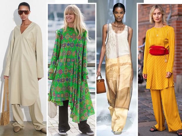 Фото №1 - Как носить платье с брюками: модные идеи на любой случай