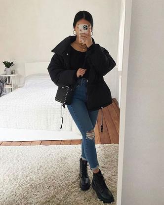 Фото №2 - Inspiration: смотри, с чем носить дутую куртку зимой 2020-2021