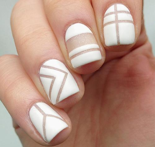 Дизайн ногтей осень-зима 2015. Маникюр Negative space. Фото.