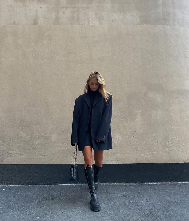 Фото №3 - Инфлюенсер Ханна Шонберг показывает, с чем носить самые модные ботинки этой осени