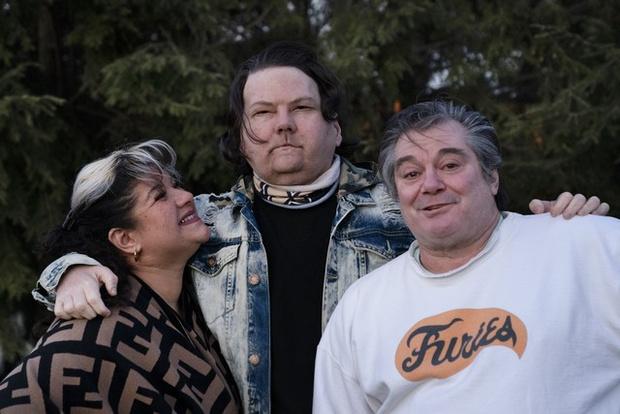 Джо Димео с родителями