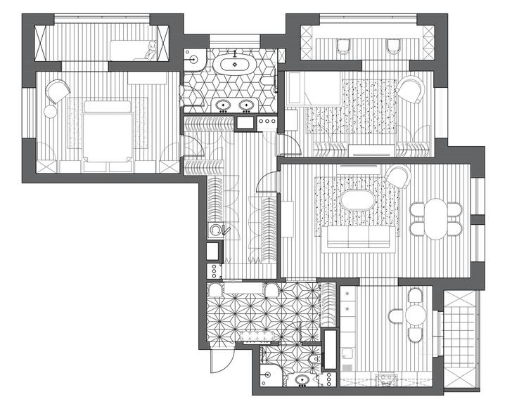 Фото №15 - Американская классика для квартиры в Москве 155 м²