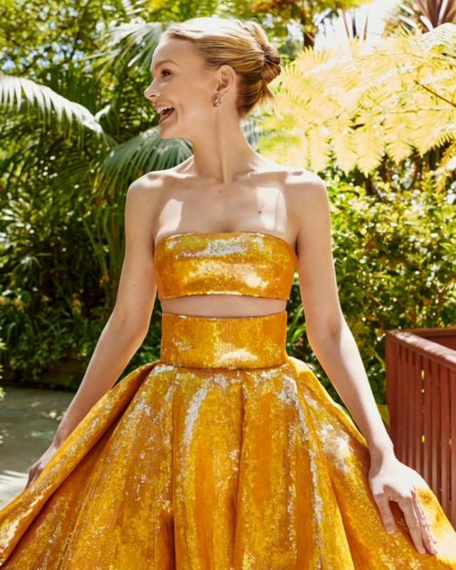Фото №1 - Золотой век Голливуда: Кэри Маллиган в кутюрном платье Valentino