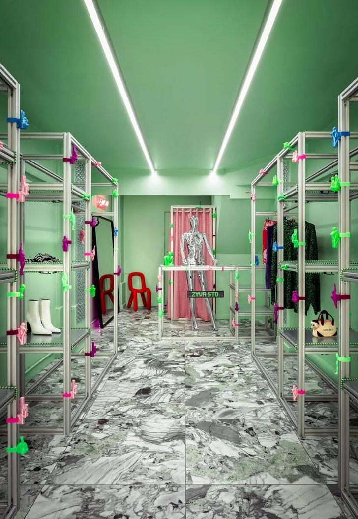 Фото №1 - Яркий магазин одежды, вдохновленный «Алисой в стране чудес»