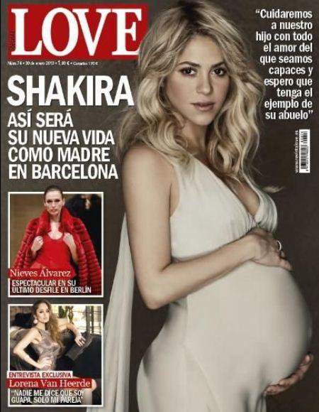 беременные звезды на обложках глянца Шакира
