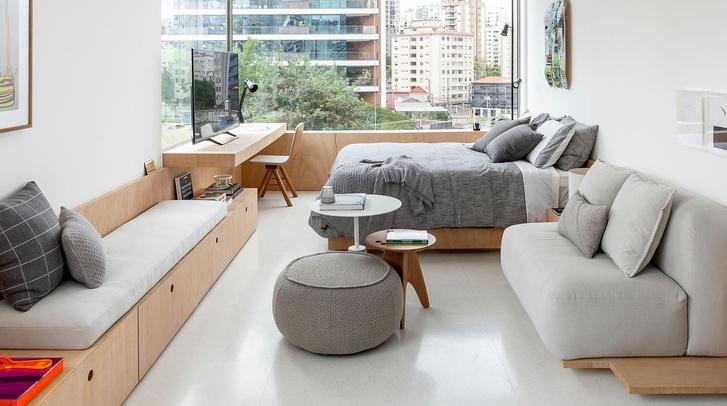 Фото №1 - Светлая квартира 37 м² в Сан-Паулу